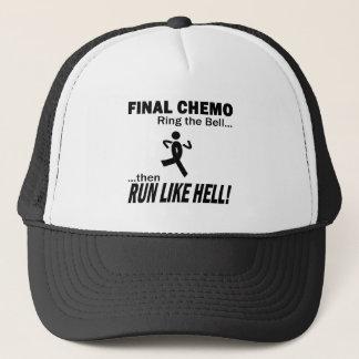Final Chemo Run Like Hell - Melanoma Trucker Hat