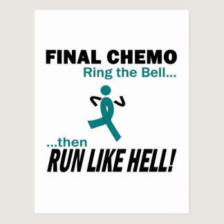 Final Chemo Run Like Hell - Ovarian Cancer Postcard