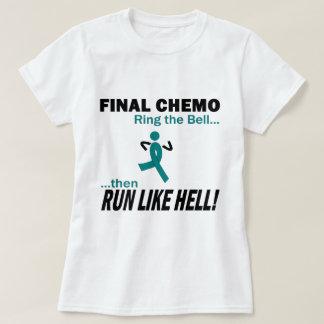 Final Chemo Run Like Hell - Ovarian Cancer T-Shirt