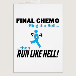 Final Chemo Run Like Hell - Prostate Cancer Card