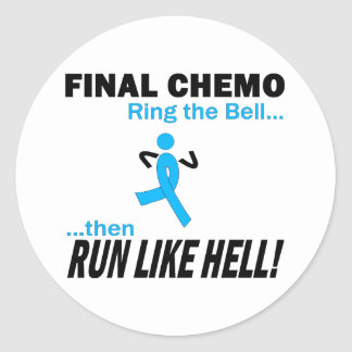 Final Chemo Run Like Hell - Prostate Cancer Classic Round Sticker