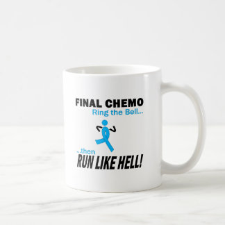 Final Chemo Run Like Hell - Prostate Cancer Coffee Mug