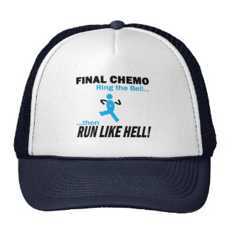 Final Chemo Run Like Hell - Prostate Cancer Hats