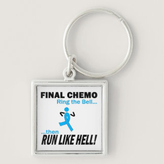 Final Chemo Run Like Hell - Prostate Cancer Keychain