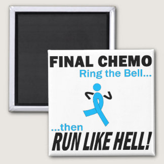 Final Chemo Run Like Hell - Prostate Cancer Magnet