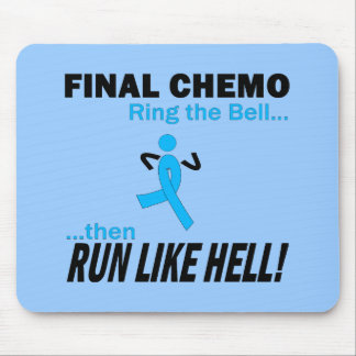 Final Chemo Run Like Hell - Prostate Cancer Mouse Pad
