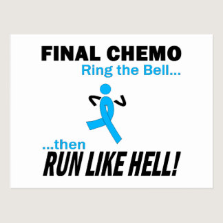 Final Chemo Run Like Hell - Prostate Cancer Postcard