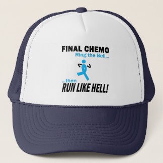 Final Chemo Run Like Hell - Prostate Cancer Trucker Hat