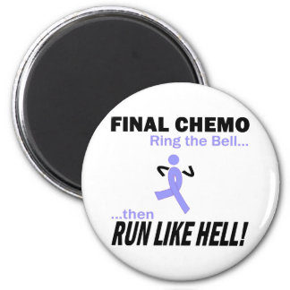 Final Chemo Run Like Hell - Stomach Cancer 2 Inch Round Magnet