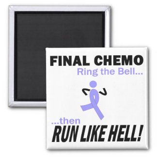 Final Chemo Run Like Hell - Stomach Cancer 2 Inch Square Magnet