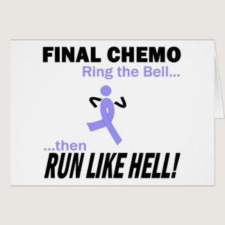Final Chemo Run Like Hell - Stomach Cancer Card