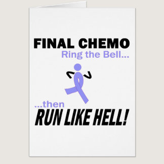 Final Chemo Run Like Hell - Stomach Cancer Card