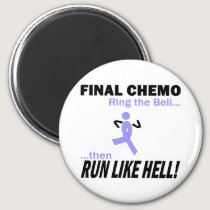 Final Chemo Run Like Hell - Stomach Cancer Magnet