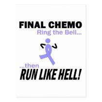Final Chemo Run Like Hell - Stomach Cancer Postcard