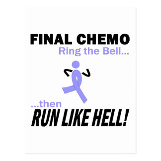 Final Chemo Run Like Hell - Stomach Cancer Postcard
