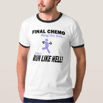Final Chemo Run Like Hell - Stomach Cancer T-Shirt
