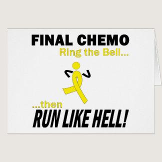 Final Chemo Run Like Hell - Testicular Cancer Card