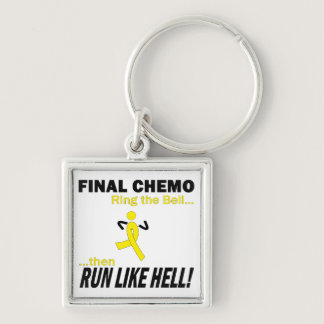 Final Chemo Run Like Hell - Testicular Cancer Keychain