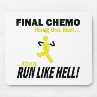 Final Chemo Run Like Hell - Testicular Cancer Mouse Pad