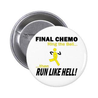 Final Chemo Run Like Hell - Testicular Cancer Pinback Button