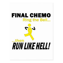 Final Chemo Run Like Hell - Testicular Cancer Postcard