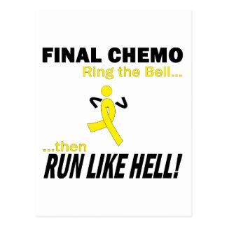 Final Chemo Run Like Hell - Testicular Cancer Postcard