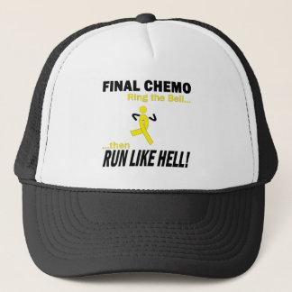 Final Chemo Run Like Hell - Testicular Cancer Trucker Hat
