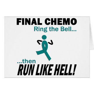 Final Chemo Run Like Hell - Uterine Cancer Card