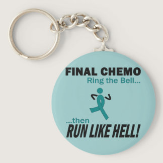 Final Chemo Run Like Hell - Uterine Cancer Keychain
