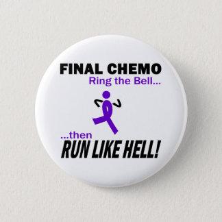 Final Chemo Run Like Hell - Violet Ribbon Button
