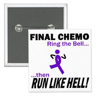 Final Chemo Run Like Hell - Violet Ribbon Pins