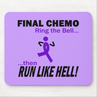 Final Chemo Run Like Hell - Violet Ribbon Mouse Pad