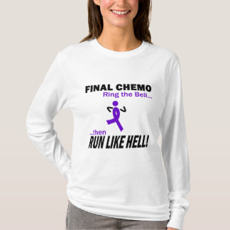 Final Chemo Run Like Hell - Violet Ribbon T-Shirt
