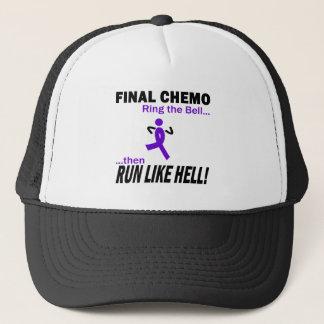 Final Chemo Run Like Hell - Violet Ribbon Trucker Hat