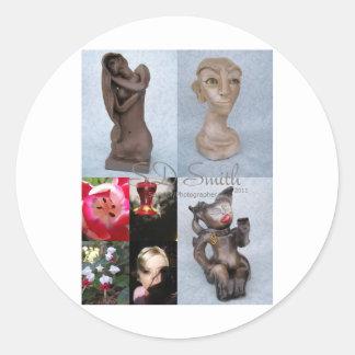 FINAL collage Classic Round Sticker