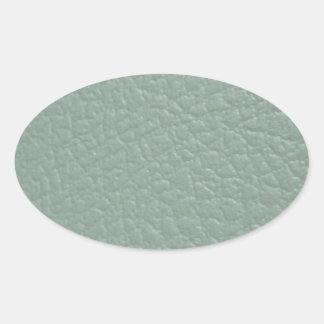 Final de cuero gris verdoso de la mirada pegatina ovalada