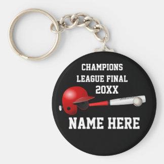 Final de la Champions League del béisbol Llavero Redondo Tipo Pin