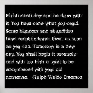 Final de la cita de Emerson cada día… Impresiones