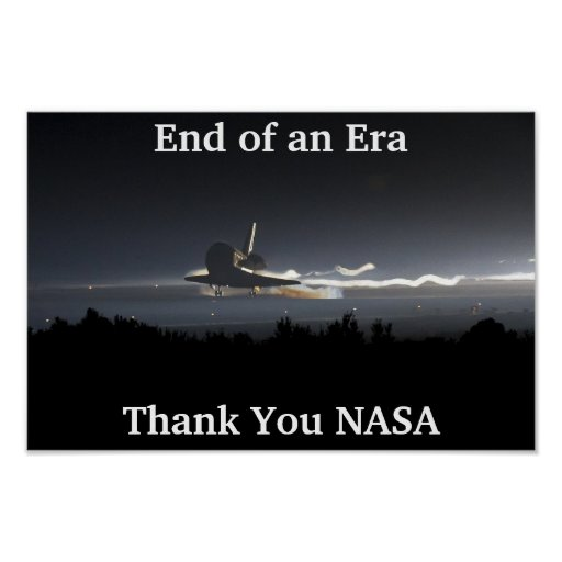 Final de la era del transbordador espacial poster