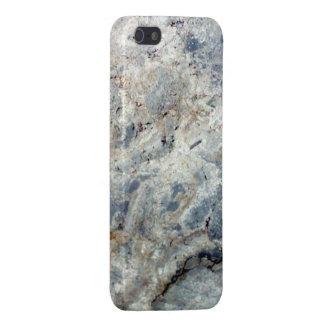 Final de piedra de mármol blanco de los azules cla iPhone 5 cárcasa
