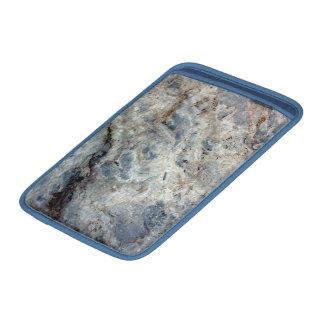 Final de piedra de mármol blanco de los azules funda  MacBook