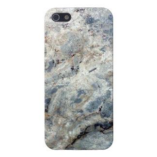 Final de piedra de mármol blanco de los azules iPhone 5 carcasa