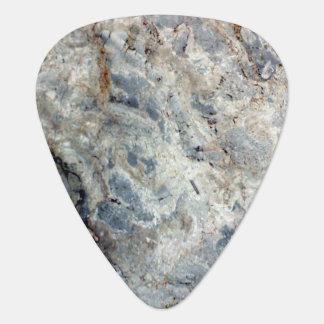 Final de piedra de mármol blanco de los azules plectro