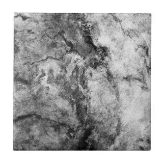 Final de piedra de mármol blanco negro rayado humo azulejo cuadrado pequeño