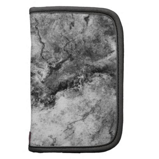 Final de piedra de mármol blanco negro rayado humo organizador