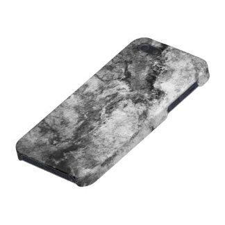 Final de piedra de mármol blanco negro rayado humo iPhone 5 protector