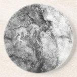 Final de piedra de mármol blanco negro rayado humo posavasos para bebidas