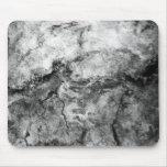 Final de piedra de mármol blanco negro rayado humo alfombrilla de ratón