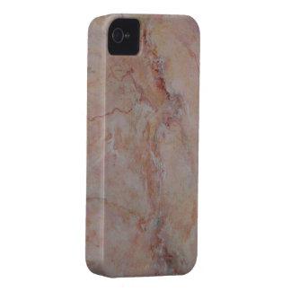 Final de piedra de mármol estriado rosado Case-Mate iPhone 4 funda
