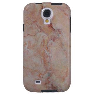 Final de piedra de mármol estriado rosado funda galaxy s4